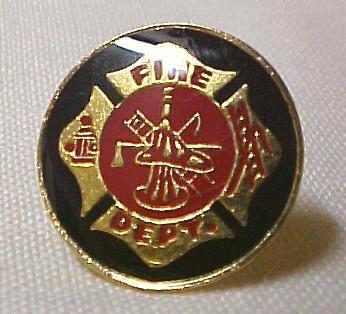 Maltese Cross Fire Dept Black Lapel Cap Pin Tac New