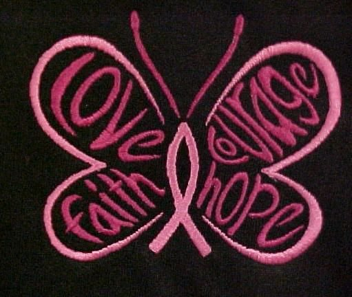 Butterfly Black S/S Crew Neck T Shirt Breast Cancer 4X Center Chest New