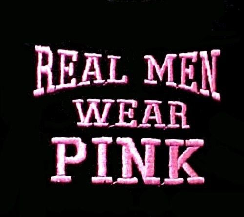 339edc1fe Real Men Wear Pink T Shirt Breast Cancer Awareness Black 3XL 100% Cotton New