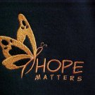 Hope Matters Melanoma Orange Butterfly Black Hoodie Sweatshirt Unisex 2X New