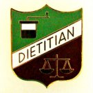 Dietitian Scales Lapel Pin Dietary Medical Green White Brown Shield 992 New