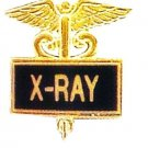 X-RAY X Ray Pin Medical Black Inlaid Emblem Caduceus Recognition Pins 3510B New