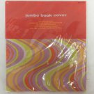 Bright 70's Hippy Retro Jumbo Stretchable Reusable Text Book Binder Cover New
