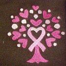 Breast Cancer Pink Ribbon Tree Heart Brown Crew Neck Sweatshirt 4XL New