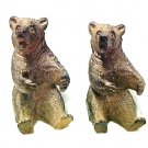 Black Brown Bear Hug Figurine Holders Set of 2 New Concepts Figurines