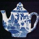 Blue Willow Porcelain Teapot Tea Pot Teapot Trivet Hot Mat Plate New
