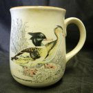 Pottery Red Breasted Merganser Drake Hen Duck Waterfowl Cup Mug Vintage