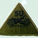 """Vintage 50th Armored Division Subdued Embroidered 4"""" Patch New"""
