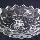 Jeannette Cube Depression Glass Footed Candy Dish