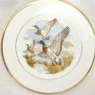 Vintage Pall Mall Ware English Bone China Cream Mallards Decorative Plate
