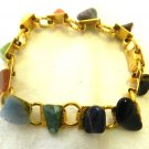 Yellow Gold Plated Stone Bracelet Costume Fashion Various Pink Yellow Green Blue