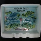 Niagara Falls Canada Raised Image Travel Souvenir Ashtray Japan Vintage