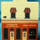 Cat's Meow Main Street Series Telegraph Office Signed Faline 1991 Free Shipping