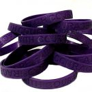 Testicular Cancer Lot of 100 Purple Awareness Bracelets Silicone Wristband New