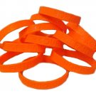 Animal Protection Lot of 12 Orange Awareness Bracelets Silicone Wristband New