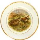 Pall Mall Ware Plate English Bone China Cream Woodcock Decorative Vintage