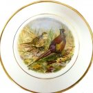 Pall Mall Ware Plate English Bone China Cream Pheasants Decorative Vintage