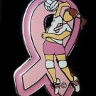 Breast Cancer Awareness Pink Ribbon Volley Ball Spike Girl Lapel Pin Tac New