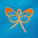 Orange Butterfly Ribbon Leukemia Awareness Blue Shopping Grocery Tote Bag New