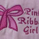 Breast Cancer Pink Ribbon Girl Bow S/S Pink Crew Neck T Shirt Medium Unisex New