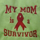 My Mom is a Survivor Red Ribbon S/S Lime T Shirt L New