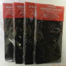 4 Black Standard Stretchable Reusable Washable Text Book Binder Cover New