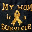My Mom is a Survivor Orange Ribbon Black Crew Neck Sweatshirt Unisex Medium New