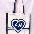 RN Nurse Medical Bag Tote Book Bag Purse Heart Registered Nurse Students New