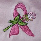 Breast Cancer Awareness Pink Ribbon White Rose Pink L/S T-Shirt S Unisex New
