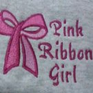 Breast Cancer Pink Ribbon Girl Bow Hoodie Sweatshirt Small Unisex New