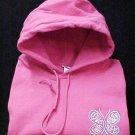 Ovarian Cancer Awareness Hope Courage Butterfly Hot Pink Hoodie Sweatshirt XL