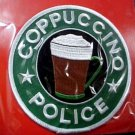 Coppuccino Police Tribute Emblem Gag Gift Patch Embroidered Collectible New