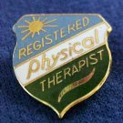 Registered Physical Therapist Gold Plate Medical Emblem Lapel Pin 973 New