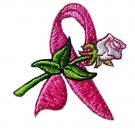 Breast Cancer T-Shirt Small Pink Awareness Ribbon Rose White S/S Crew Neck New