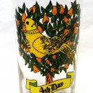 Vintage Indiana American Glass 12 Days of Christmas Beverage Glass 4th Day
