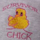 Survivor Chick Breast Cancer Awareness Gray Hoodie Sweatshirt 5XL Unisex New