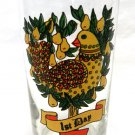 Vintage Indiana American Glass 12 Days of Christmas Beverage Glass 1st Day