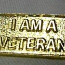 I Am A Veteran Awareness Gold Military Vet Insignia Emblem Lapel Hat Pin Tac New