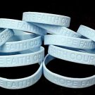 Lymphedema Awareness Bracelets Lot of 12 Light Blue Silicone Hope Faith Courage