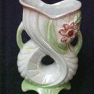 Fish Mouth Flower Floral Plant Vase Glass Lusterware Unique Vintage