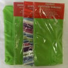 4 Striped Lime Green Standard Stretchable Reusable Text Book Binder Cover New