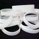 Lung Cancer Awareness Clear Translucent Silicone Bracelet 50 pc Lot November New