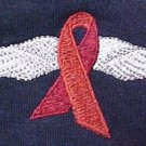 Heart Disease Awareness Month is February Red Ribbon Wing Navy Sweatshirt XL New