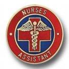 Nurses Assistant Cross Caduceus Gold Plate Medical Insignia Emblem Pin 5005 New