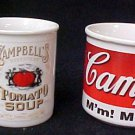 Campbells Kids Beefsteak Tomato Soup Cup Mug Collector Series 1998 Cup Set of 2