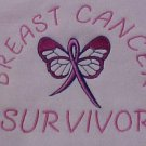 Breast Cancer Survivor Pink Ribbon Centered Chest Butterfly Hoodie Unisex Large