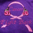 Awareness Embroidered Purple T Shirt Fight Back Cancer Ribbon Boxing Gloves XL