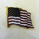 American Made US Flag Red White Blue Patriot Support Troops Lapel Hat Pin Tac