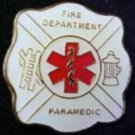 Paramedic Fire Department EMS Star of Life Gold Plate Cap Lapel Pin Tac New
