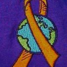 Orange Ribbon World T Shirt M Purple Short Sleeve Earth Awareness Unisex New